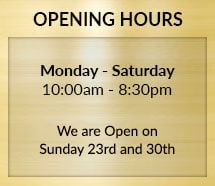 Opening Hours Update