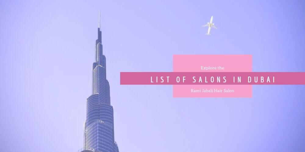 List Of Salons In Dubai